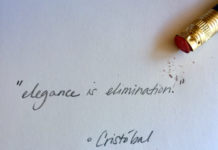 """Elegance is elimination."" Cristobal Balenciaga"